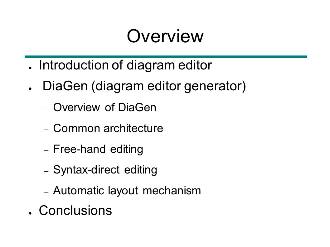 Concepts and realization of a diagram editor generator based on 2 overview introduction of diagram editor diagen diagram editor generator overview of diagen common architecture free hand editing ccuart Gallery