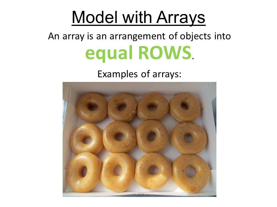 Everyday arrays | kitah dalet~ 4th grade.