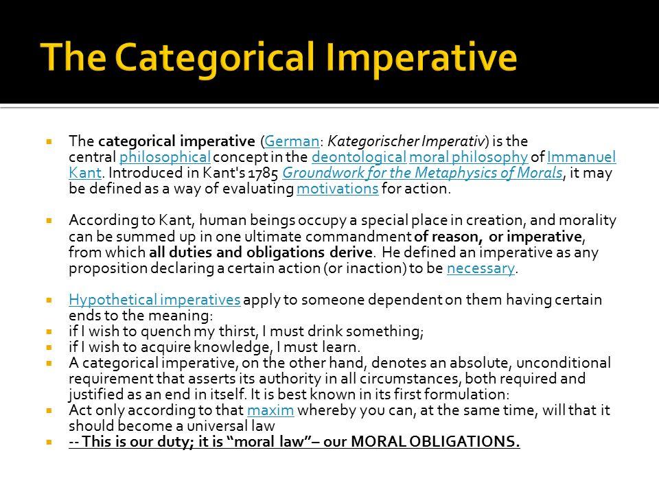 essay kant kategorischer imperativ