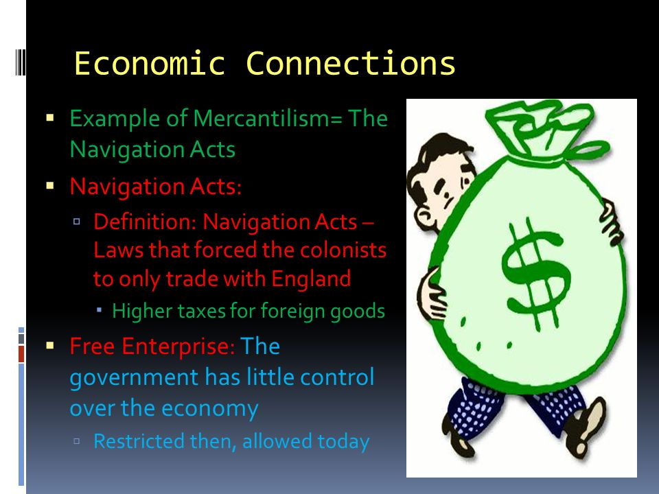 Political And Economic Connections With England Economic
