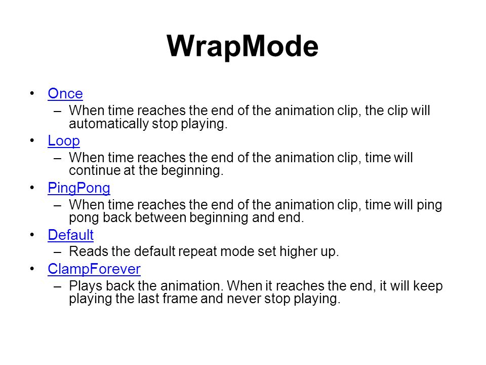 Unity3D Animation  The Animation System supports –animation
