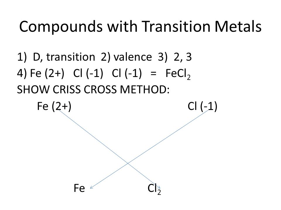 1 BellRinger Name The Following Ionic Compounds A NaCl B