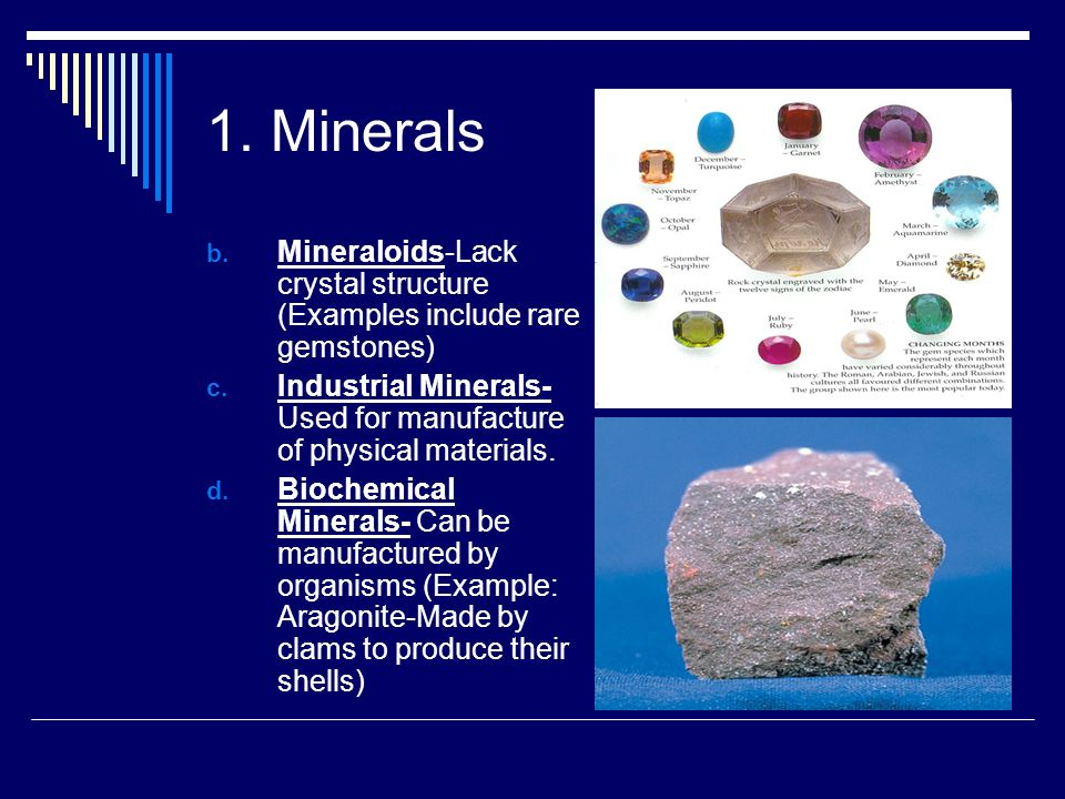 Introduction To Minerals Created By Mr Kreeger