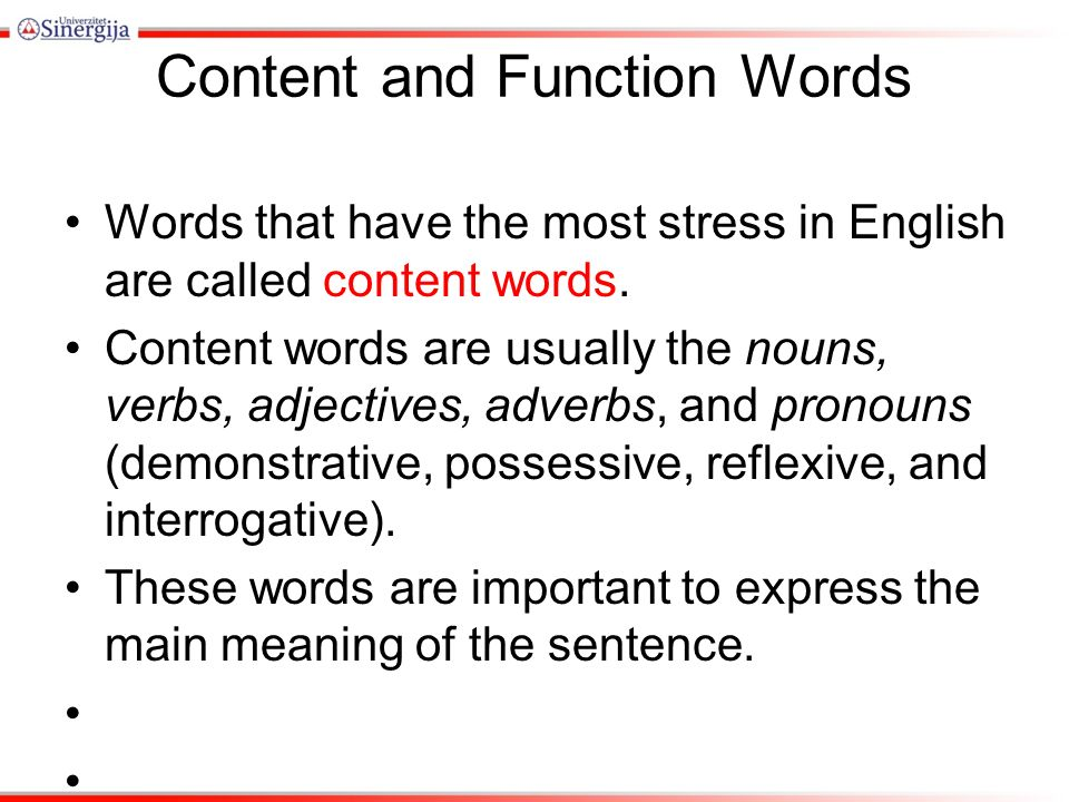 rhythm content function words content and function words words