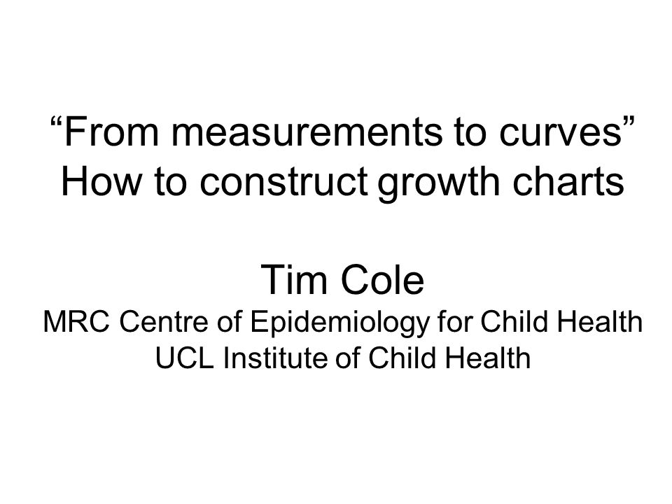 From Measurements To Curves How To Construct Growth Charts Tim Cole