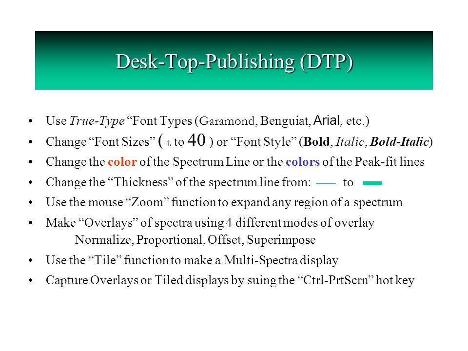 "Desk-Top-Publishing (DTP) Use True-Type ""Font Types"
