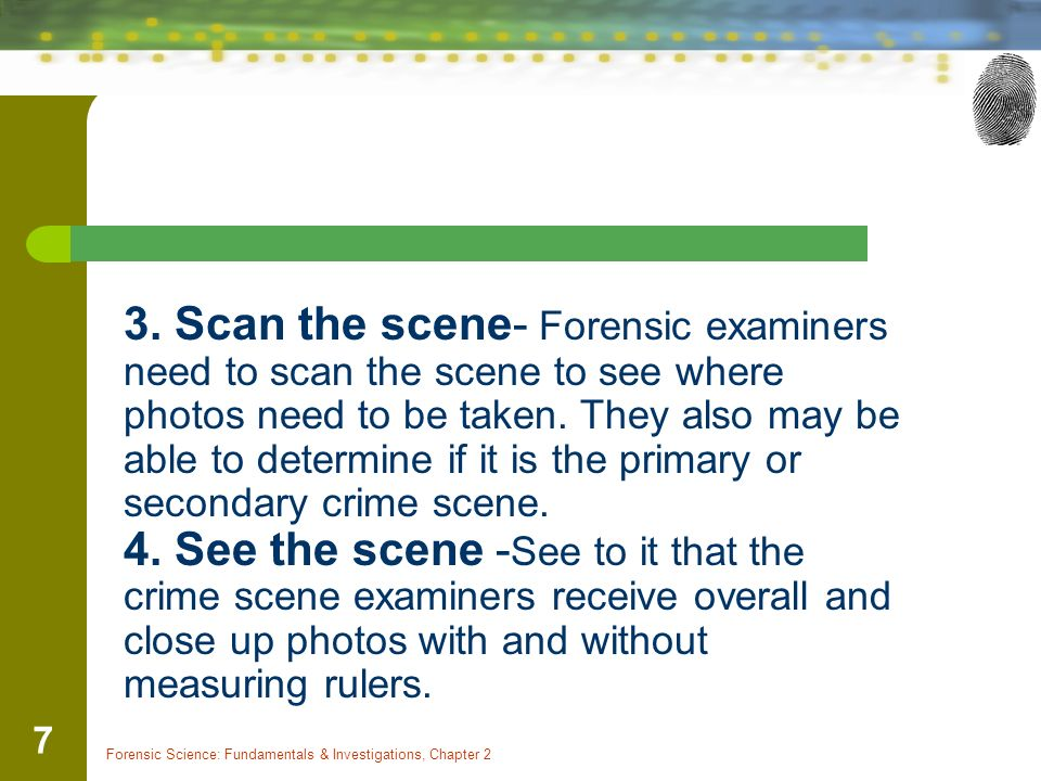 Forensic Science: Fundamentals & Investigations, Chapter 2 1