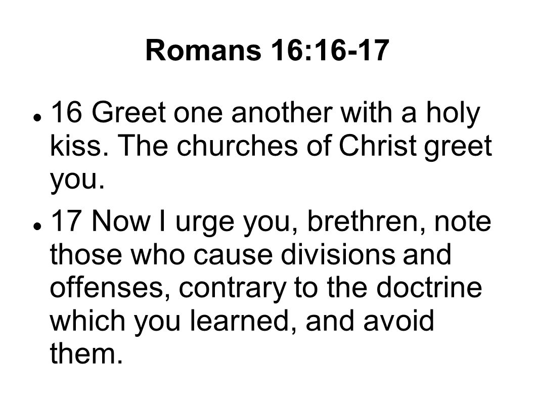 2 Churches Of Christ The Restoration Plea Was For Unity But