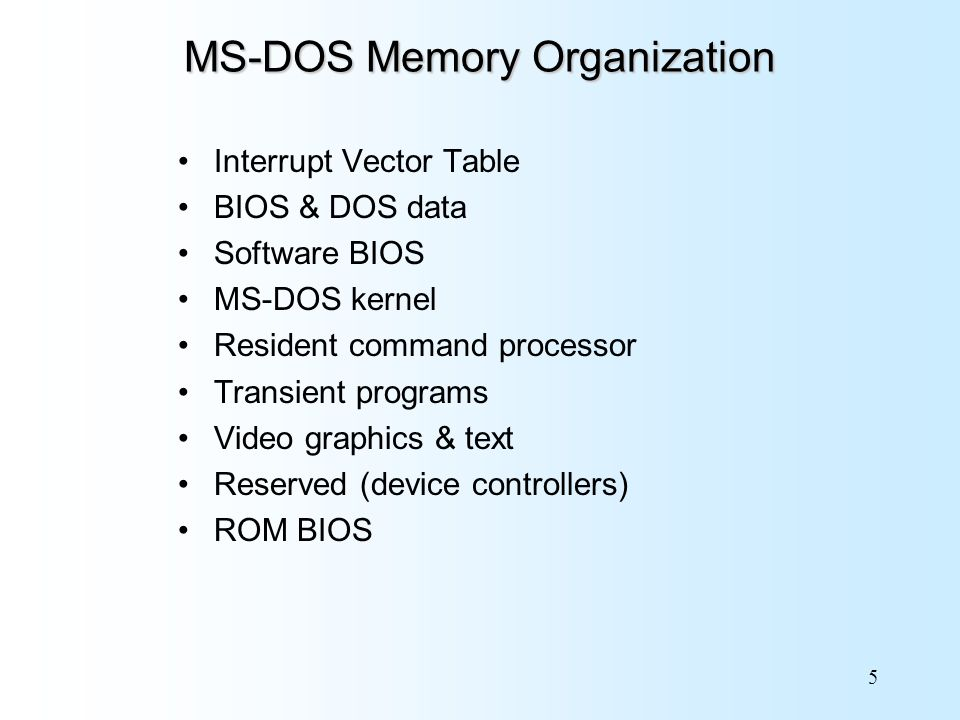 Chapter Bit MS-DOS Programming Assembly Language for Intel