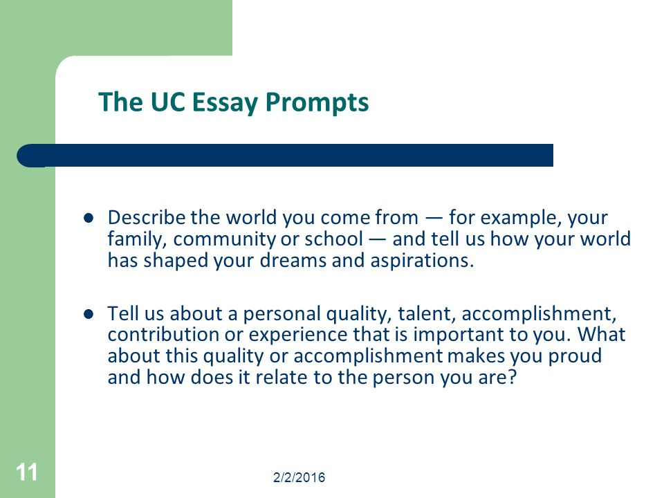 2 2 The College Application Essay Your Opportunity To Reveal The