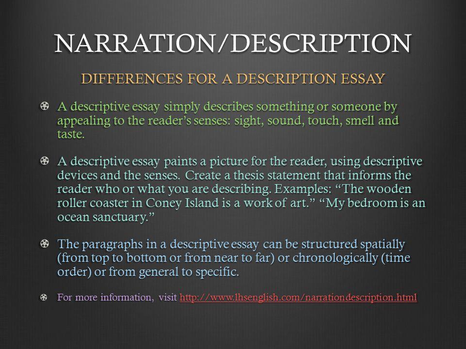 narration and description