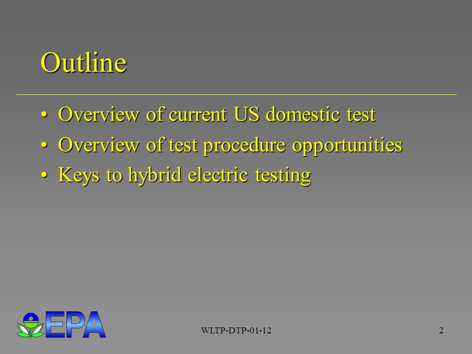 WLTP Test Procedures for Hybrid Electric Vehicle Testing Chris ...