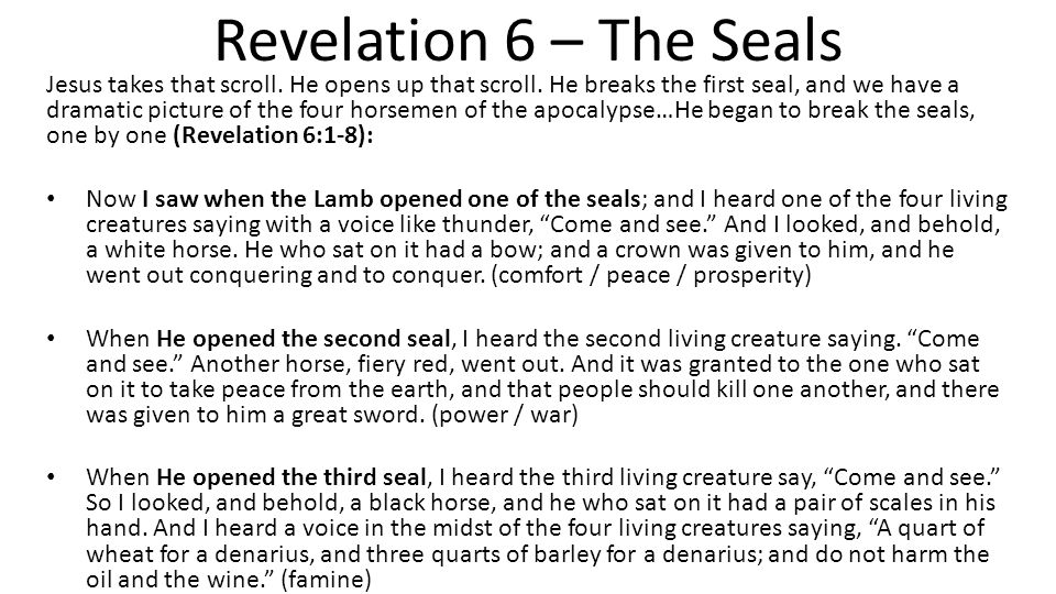 August 16, Revelation Summary…To Date Chapter 1 is a view of