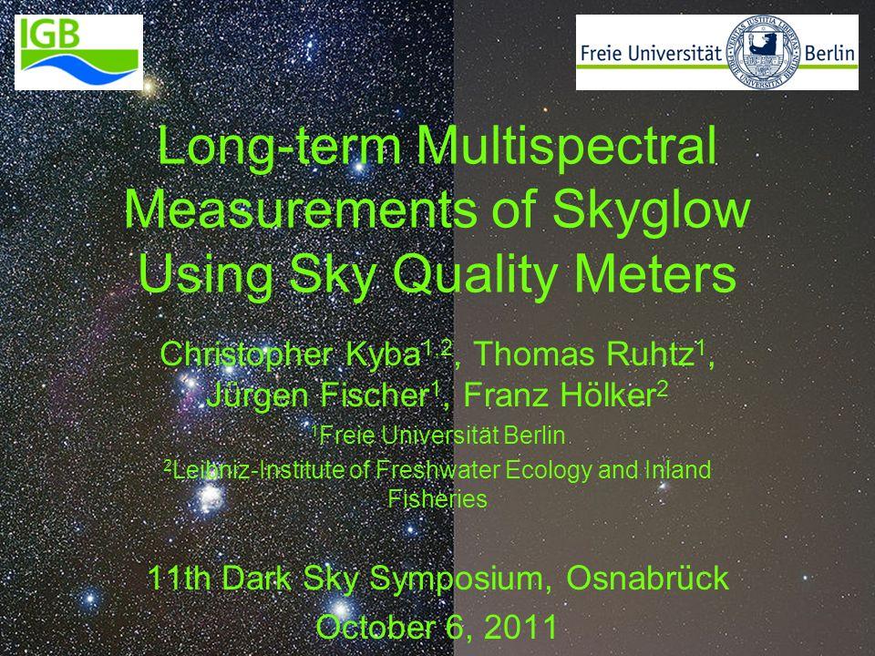Long-term Multispectral Measurements of Skyglow Using Sky