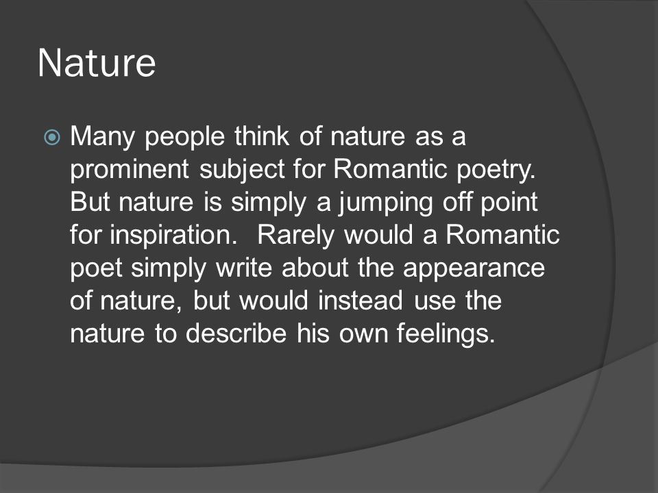 nature in romantic poetry