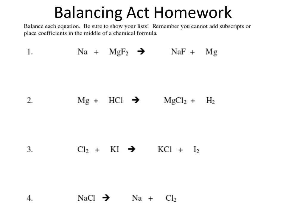 Balancing Act Atoms Are Not Created Or Destroyed During A Chemical