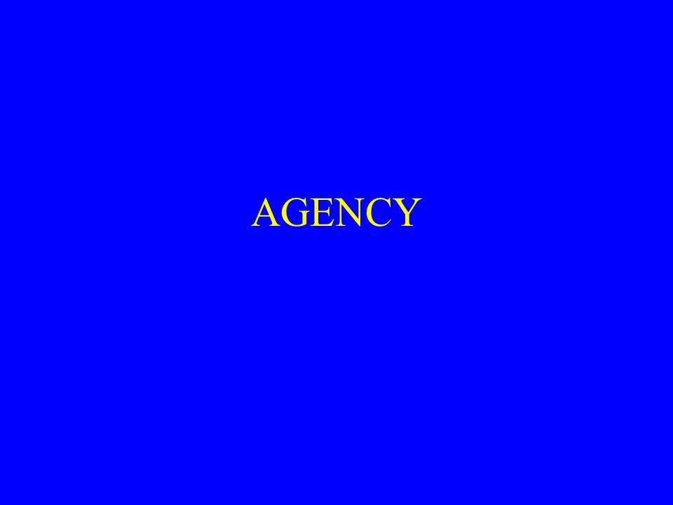 Agency Definition Of Agency A Fiduciary Relationship Trust And