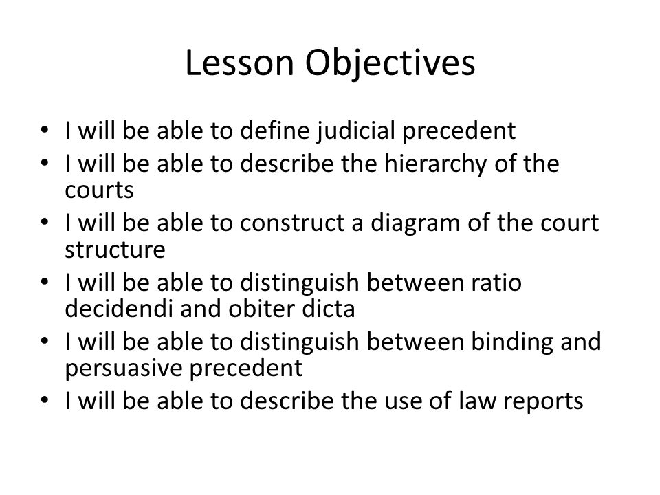 judicial precedent definition