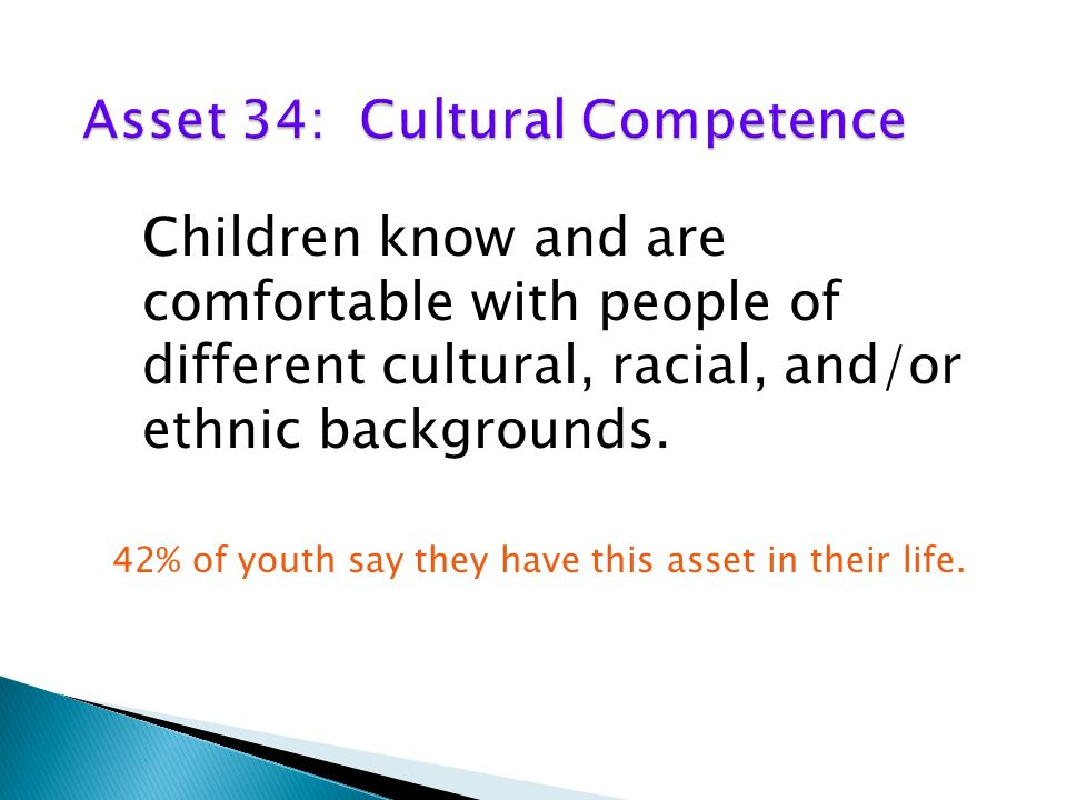Children know and are comfortable with people of different cultural, racial, and/or ethnic backgrounds.