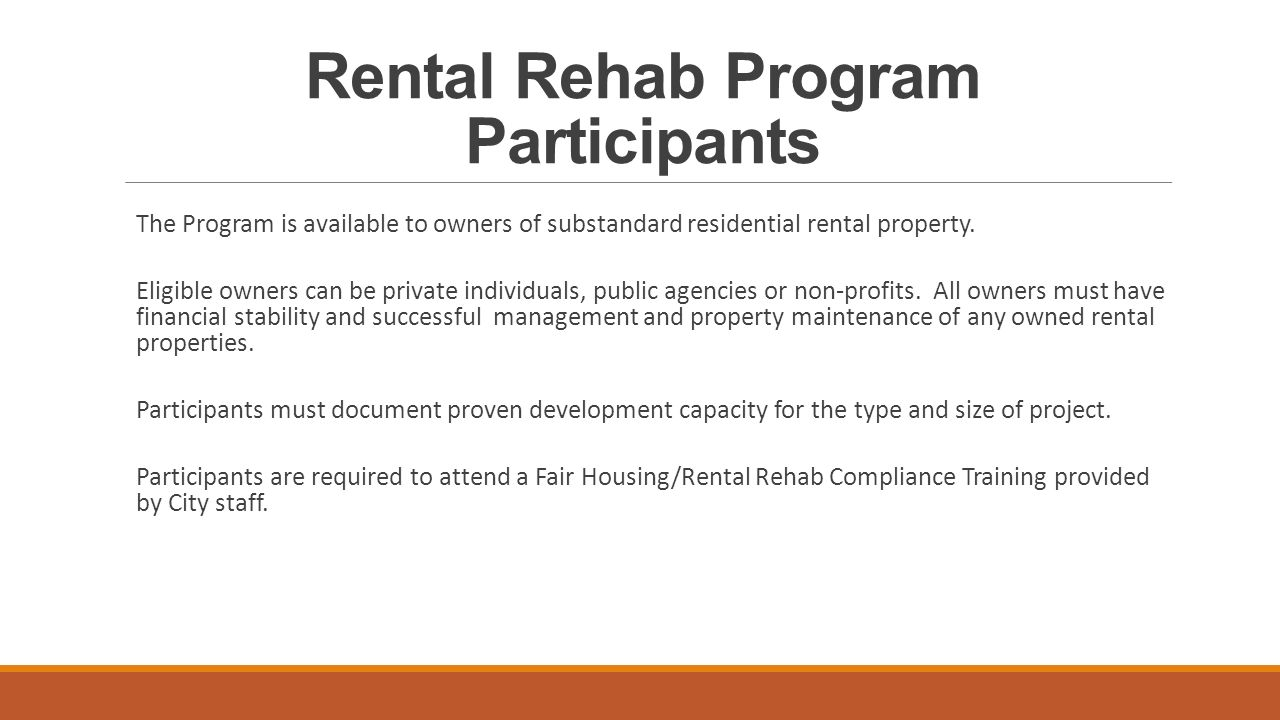 Washington Oaks a Rental Rehabilitation Program Project CITY