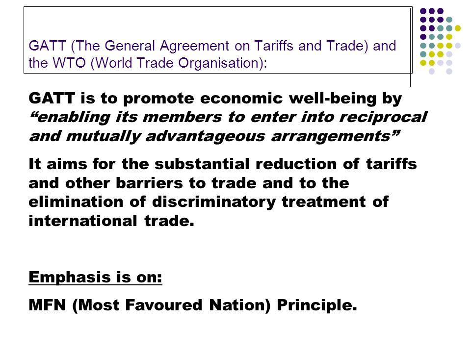 Economic Environment Of Business International Trade Gatt And The