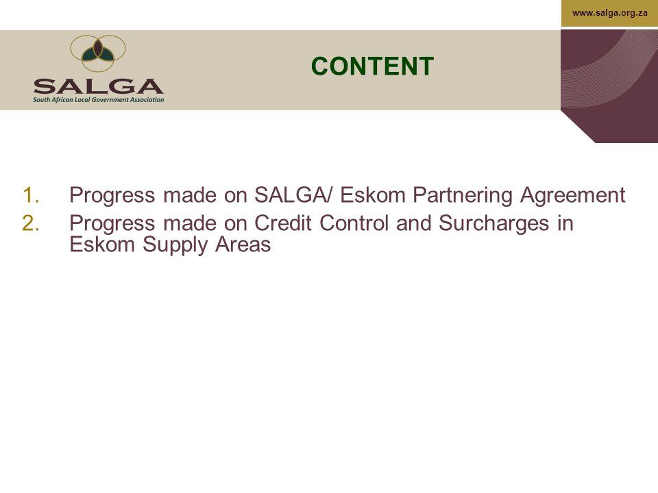 1 Progress On Salga Eskom Partnering Agreement Signing And