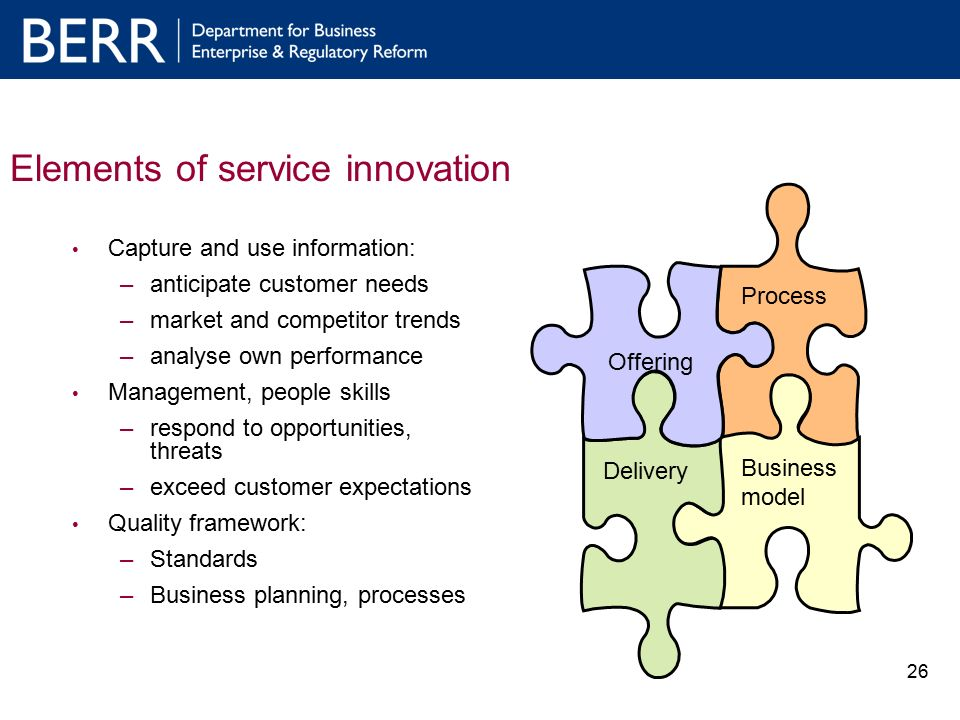 1 Improving the Framework for Service Innovation and