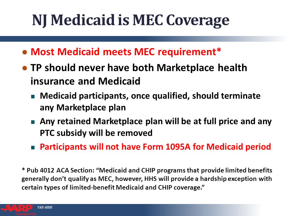 TAX-AIDE NJ Medicaid What preparers should know ppt download