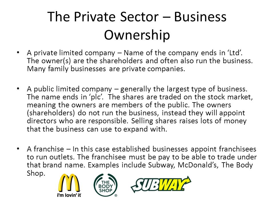 Ocr gcse business new spec 1. 3 business ownership.