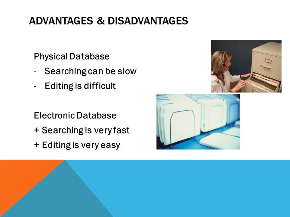 advantages and disadvantages of electronic databases