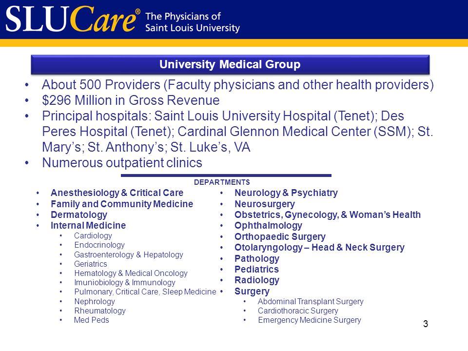 University Medical Group SLUCare February Mission Statement