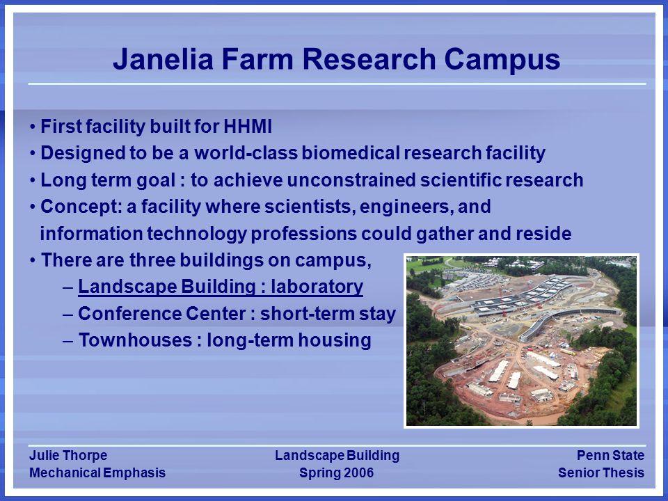 Julie Thorpe Howard Hughes Medical Institute's Landscape