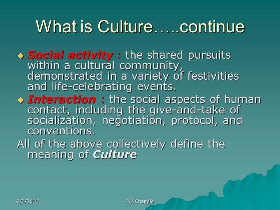 Cultural Community Definition