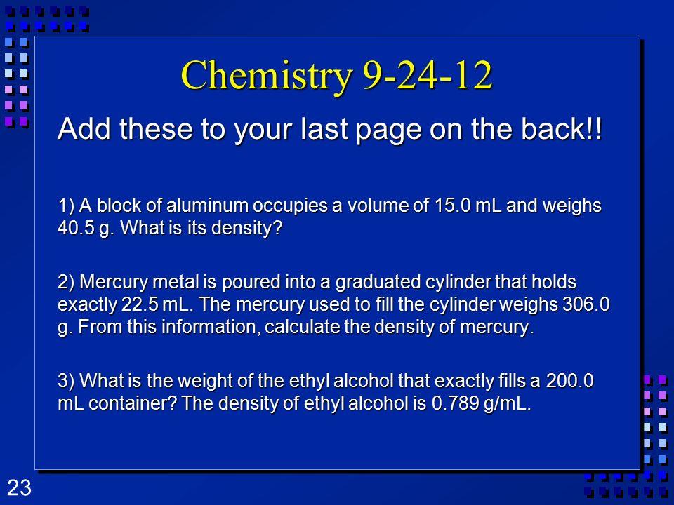 density of ethyl alcohol g ml