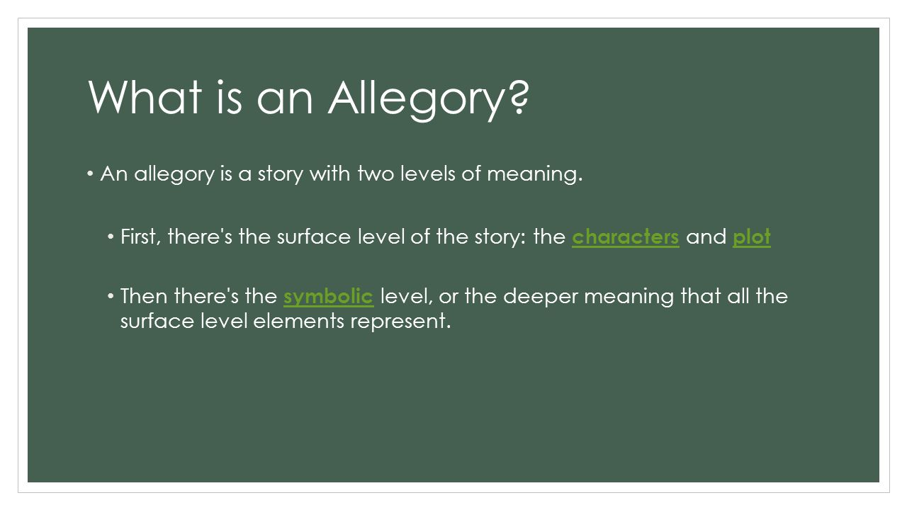 What is allegory 75