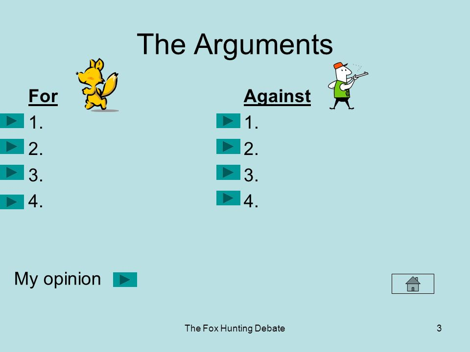 arguments against fox hunting