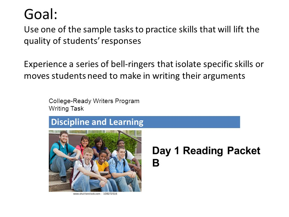 ARGUMENT Writing Bell Ringers Designed To Support On Demand
