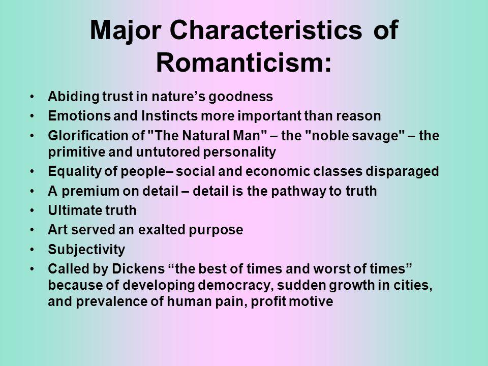 Characteristics of romanticism literature