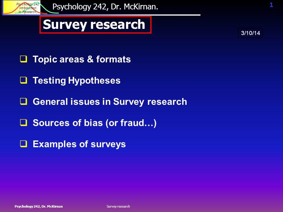 survey research topics psychology