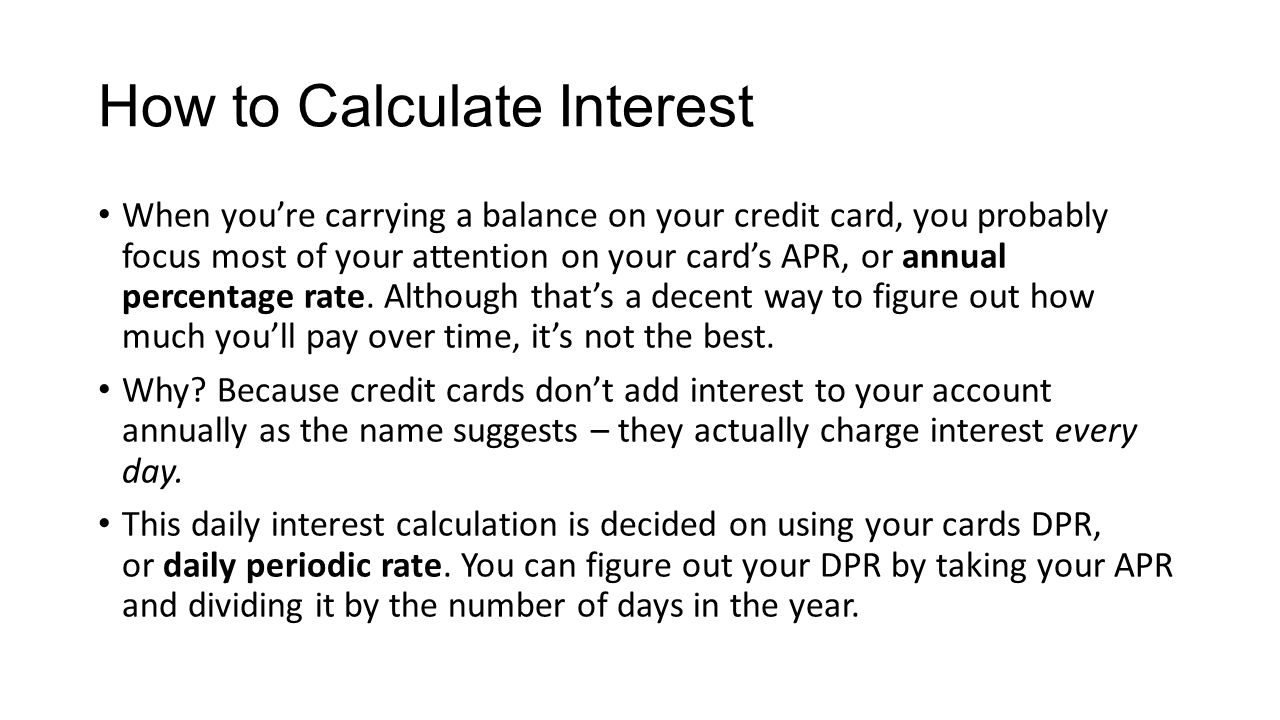 how to calculate interest when youre carrying a balance on your credit card