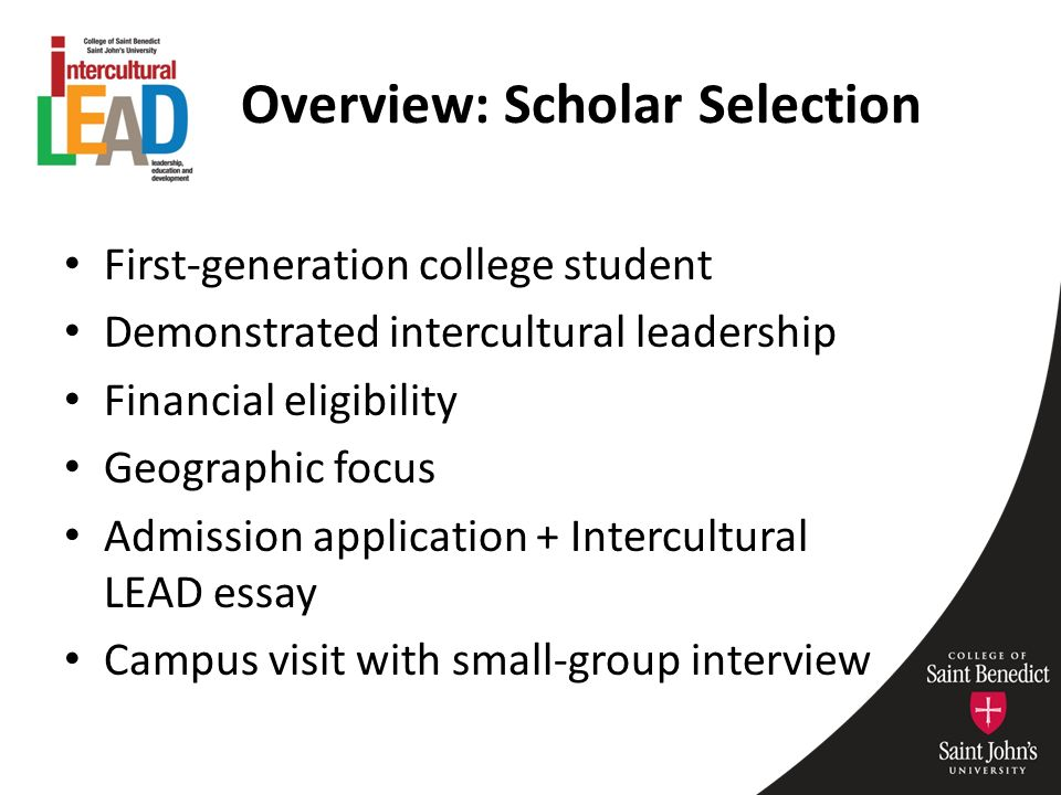Universal Health Care Essay  Overview Scholar Selection Firstgeneration College Student Demonstrated  Intercultural Leadership Financial Eligibility Geographic Focus Admission   Thesis Argumentative Essay also Graduating From High School Essay Academic Advising In A Collaborative Cohortbased Scholarship  Science And Religion Essay