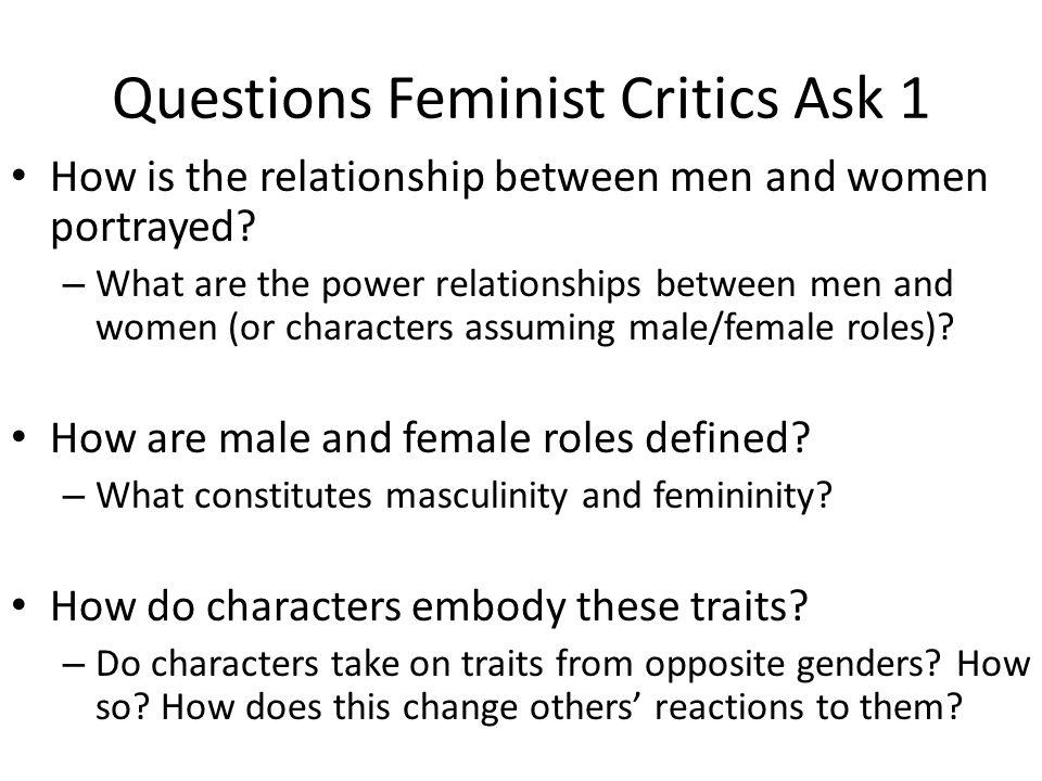 how is the relationship between men and women portrayed