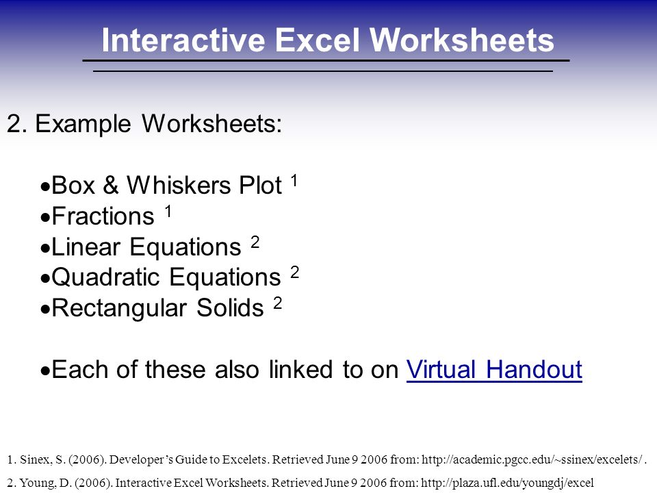 interactive excel worksheets david young sbac technology integration rh slideplayer com Guide to Cats guide to excel shortcuts investment banking
