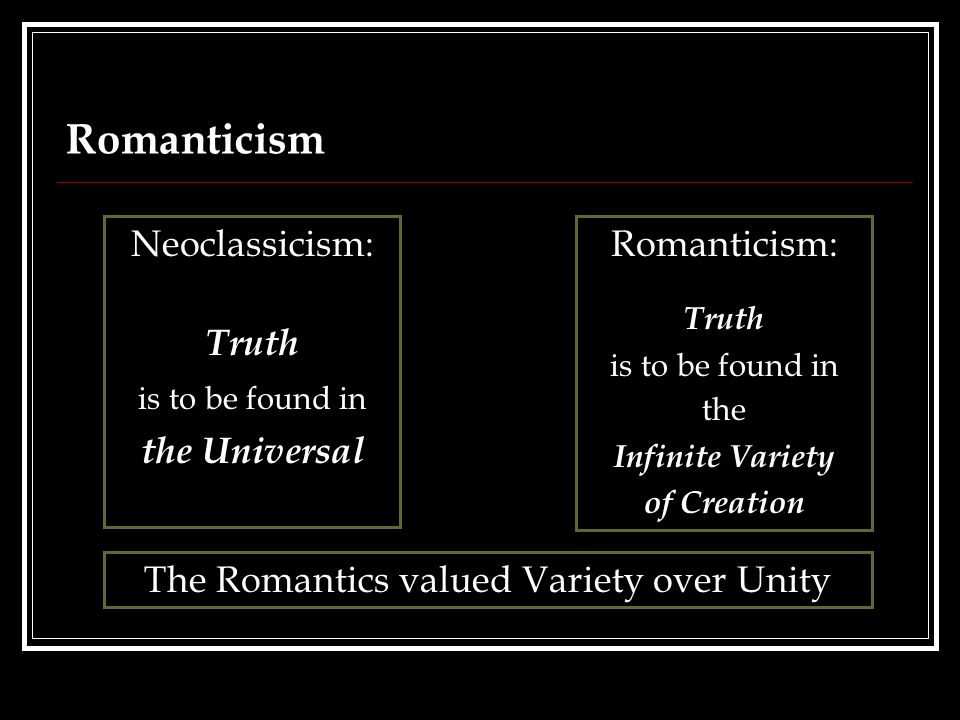 how was romanticism different from neoclassicism