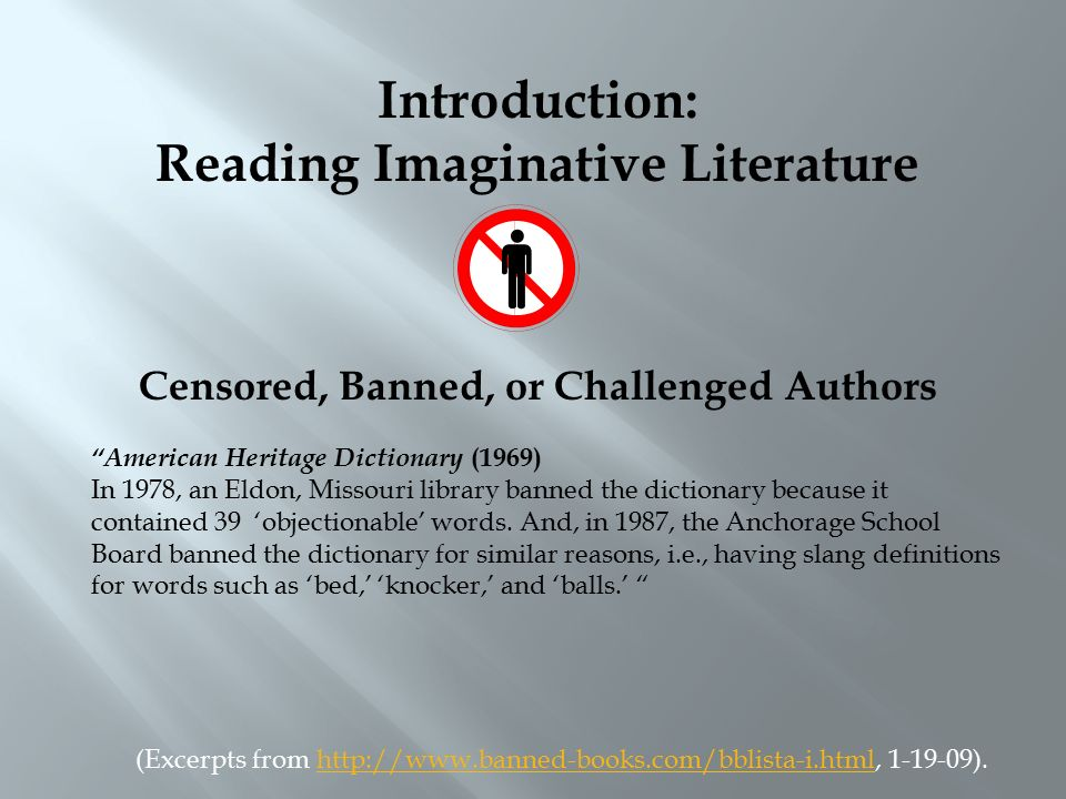 Introduction: Reading Imaginative Literature How do you read