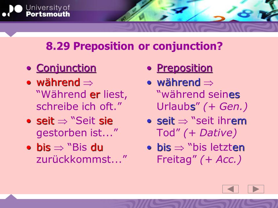 8.29 Preposition or conjunction.