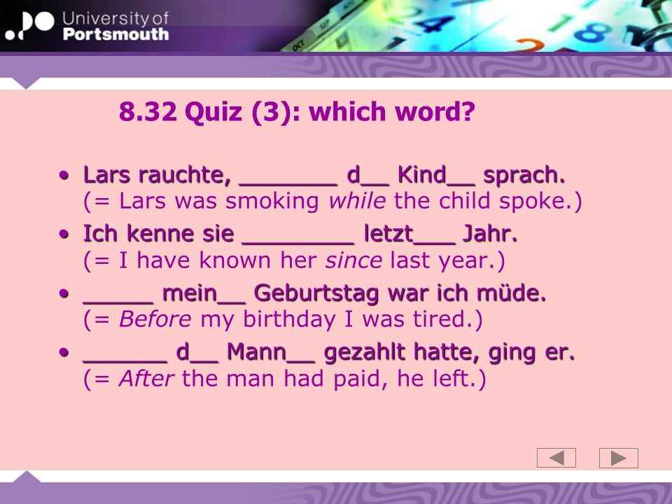 8.32 Quiz (3): which word.