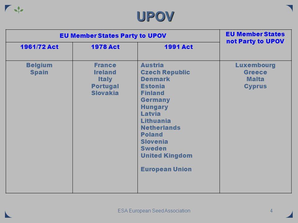 ESA European Seed Association Do the legal tools meet the