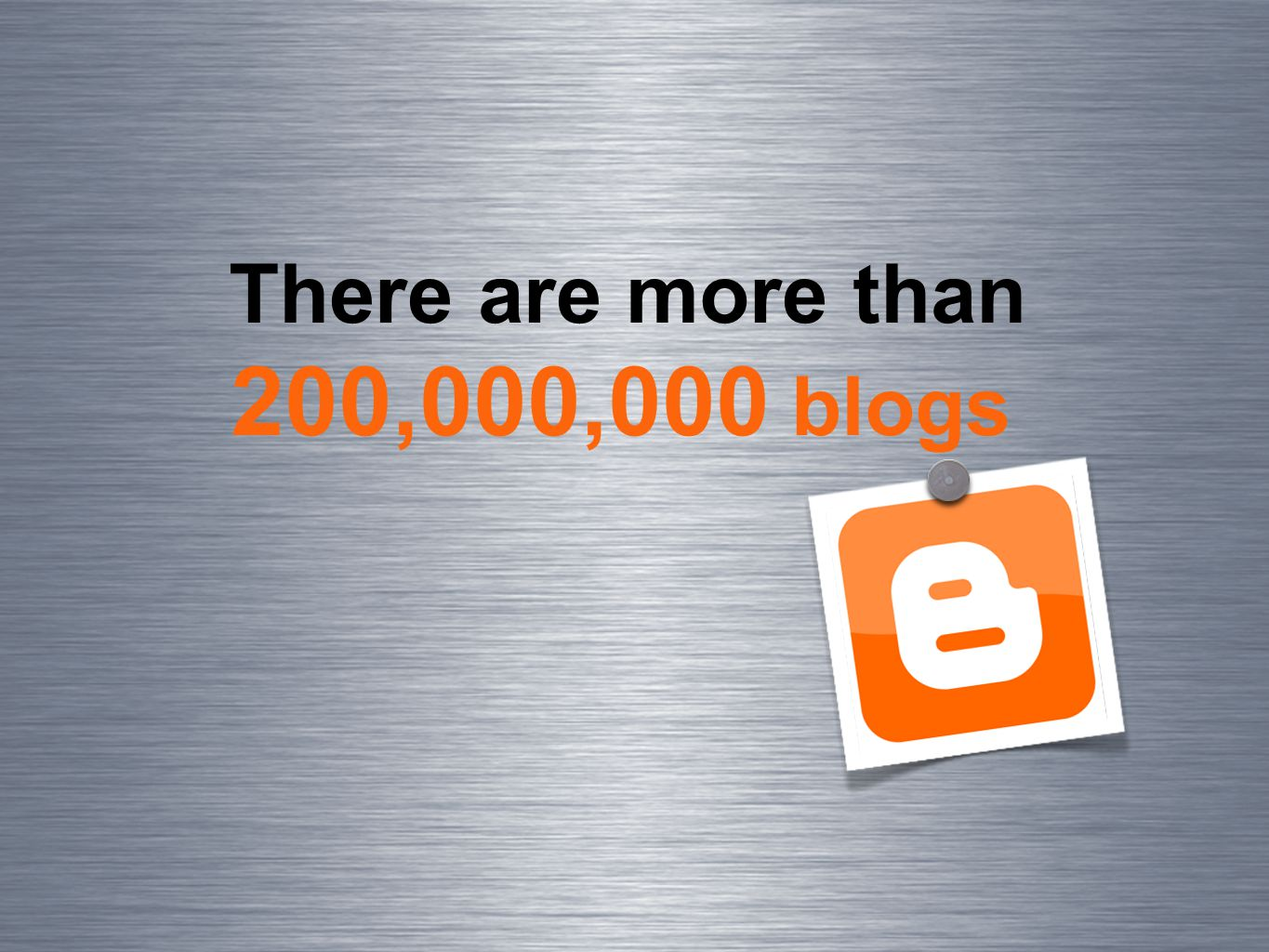 There are more than 200,000,000 blogs