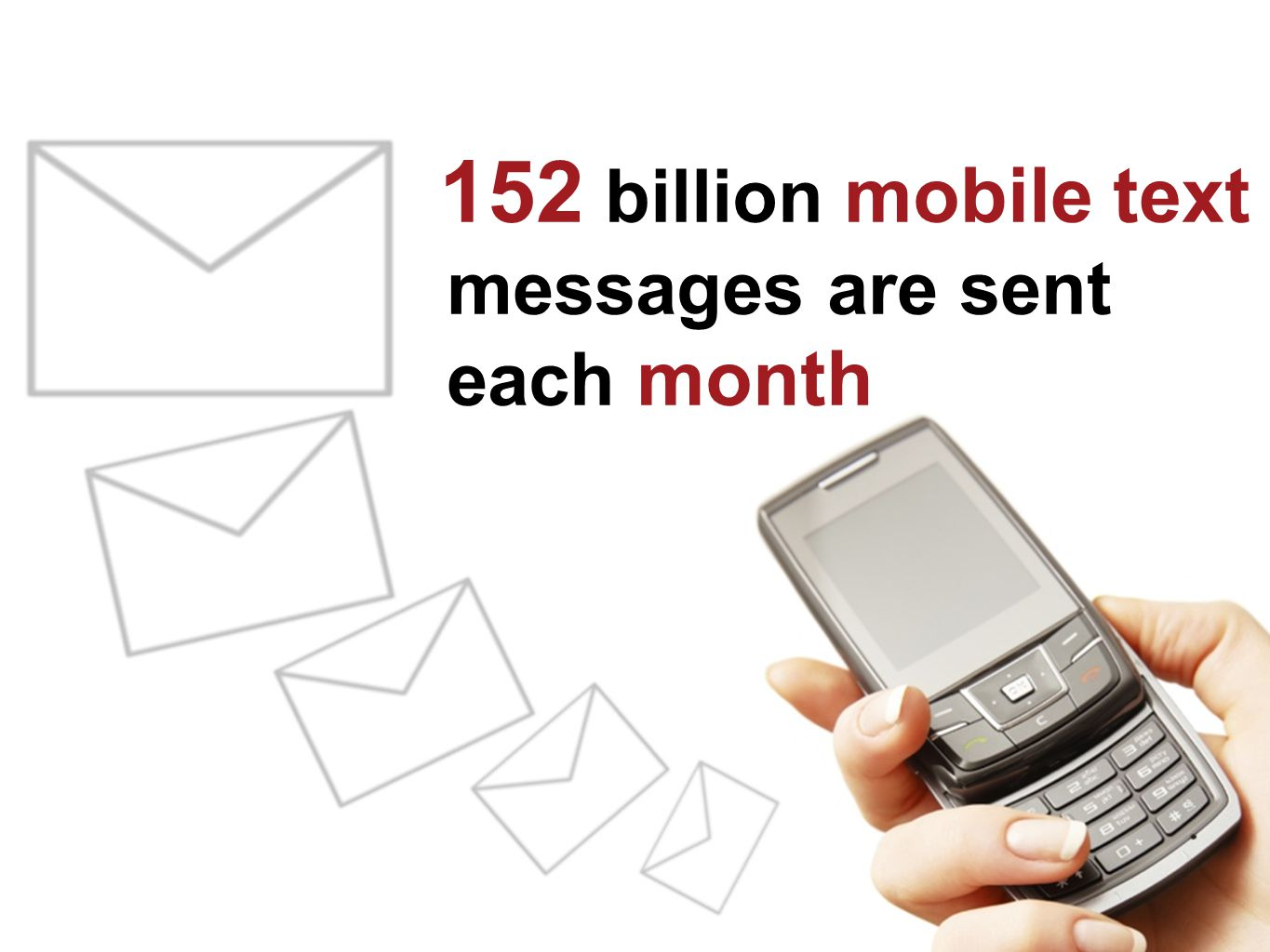 152 billion mobile text messages are sent each month